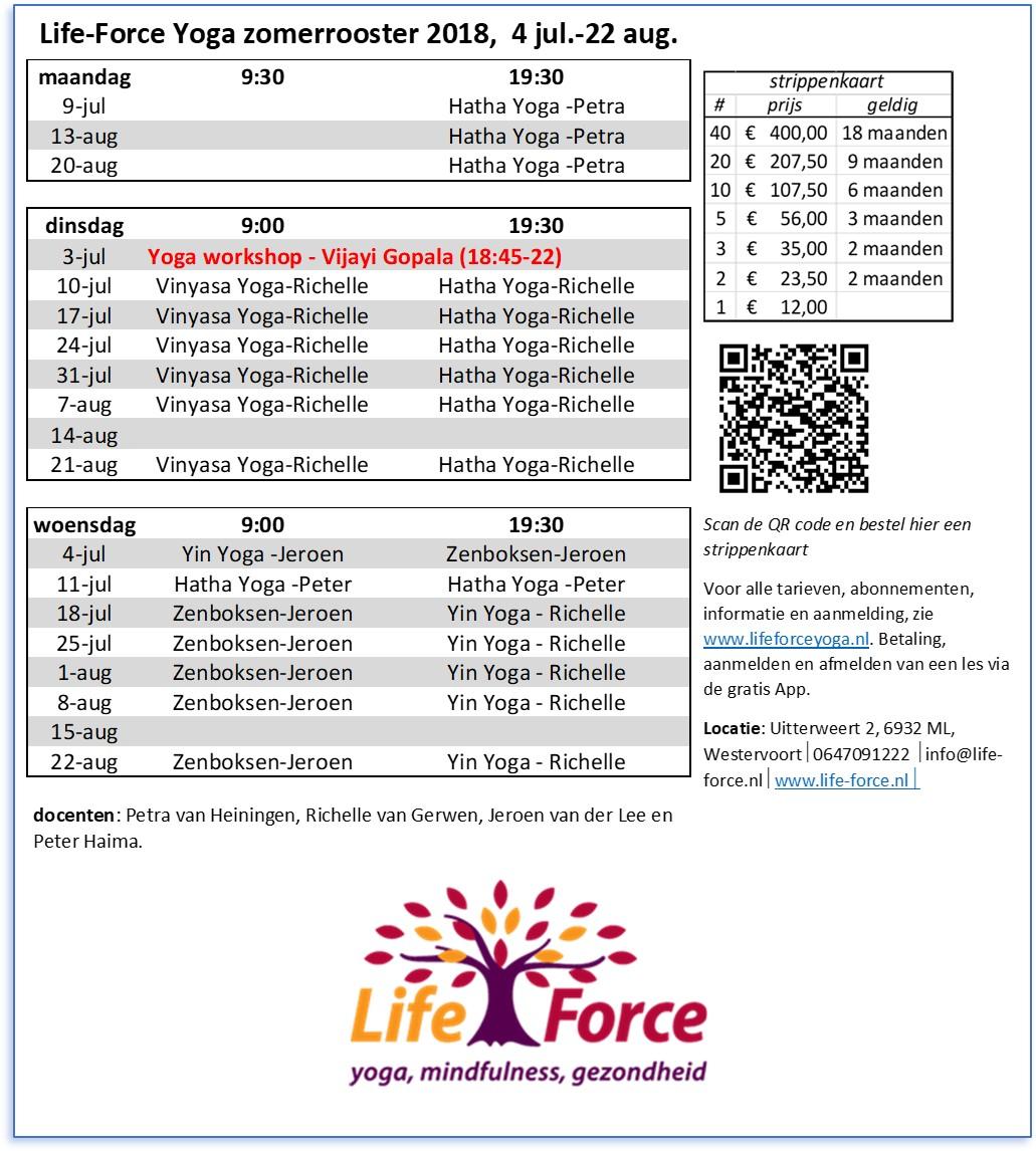 zomer 2018 Life-Force Yoga