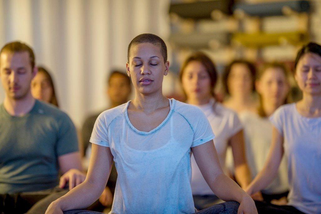 Mindfulness training groepsoefening
